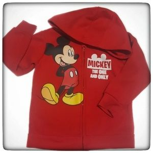 Disney Mickey Mouse Toddler Boy Red Hoodie-3T